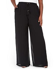 Plus Size Pull-On Palozzo Pants