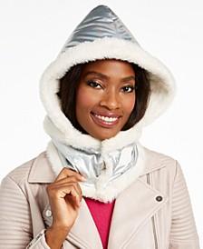 Logo Puffer Hood With Faux-Fur Trim