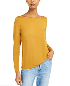 Boat-Neck Long-Sleeve Top, Regular & Petite