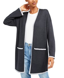 Eileen Fisher Open-Front Merino Wool Cardigan