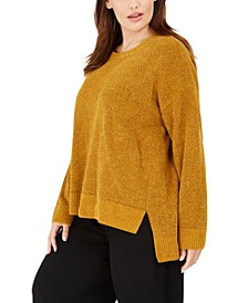 Plus Size Marled High-Low Sweater