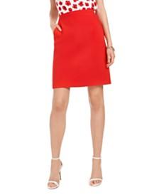 Anne Klein Side-Pocket Pencil Skirt