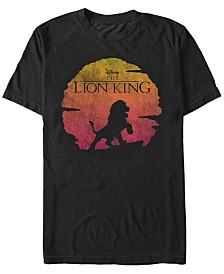 Disney Men's Lion King Sunset Pose Short Sleeve T-Shirt