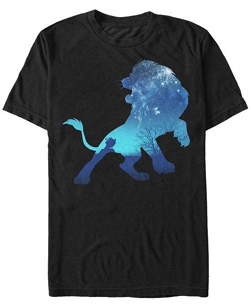 Lion King Disney Men's Simba Sky Silhouette Short Sleeve T-Shirt