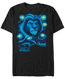 Disney Men's The Lion King Mufasa Starry Night Short Sleeve T-Shirt