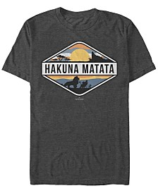 Disney Men's The Lion King Hakuna Matata Emblem Short Sleeve T-Shirt