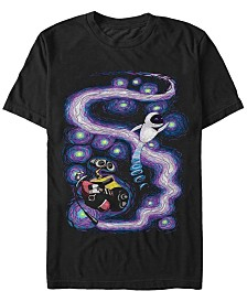 Disney Pixar Men's Starry Night Dancing in Space Short Sleeve T-Shirt