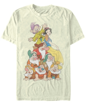 Disney Men's Snow White Seven Dwarf Stack Short Sleeve T-Shirt