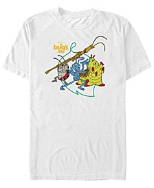 Disney Pixar Men's Big Leaf Group Shot Short Sleeve T-Shirt