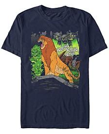 Disney Men's The Lion King Simba A Hero Roars Short Sleeve T-Shirt