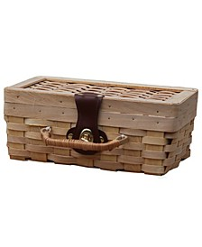 Small Woodchip Picnic Basket, Child's Private Picnic Basket