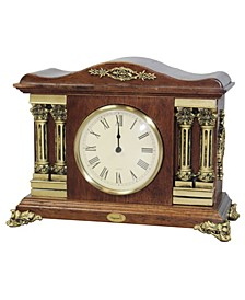 Traditional Desktop Clock Wood Case