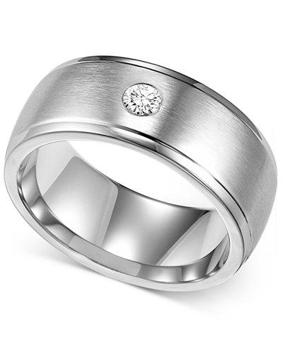 triton mens diamond wedding band in cobalt 110 ct tw - Mens Diamond Wedding Ring