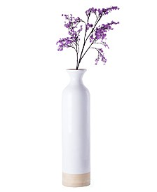 Cylinder Shaped Tall Spun Bamboo Floor Vase Glossy Lacquer Bamboo Collection