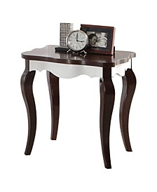 Wooden End Table with Cabriole Legs
