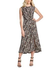 DKNY Twisted Midi Dress