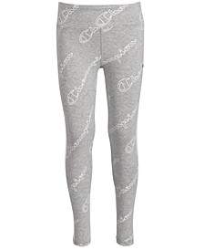 Little Girls Printed Logo Leggings