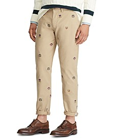 Men's Straight Fit Emblem Chino Pants