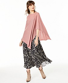 Asymmetrical Cashmere Poncho, Created for Macy's