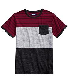 Big Boys Hayden Colorblocked Stripe Pocket T-Shirt