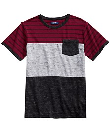 Univibe Big Boys Hayden Colorblocked Stripe Pocket T-Shirt