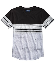 Big Boys Kid Colorblocked Stripe V-Neck T-Shirt