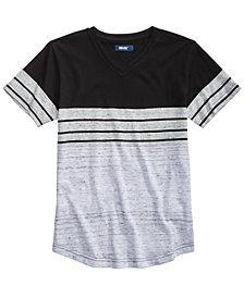 Univibe Big Boys Kid Colorblocked Stripe V-Neck T-Shirt