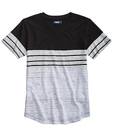 Univibe Big Boys Kid Colorblocked Stripe V-Neck T-Shirt