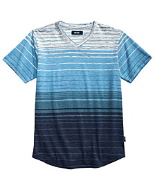 Big Boys Zane Textured Stripe V-Neck T-Shirt