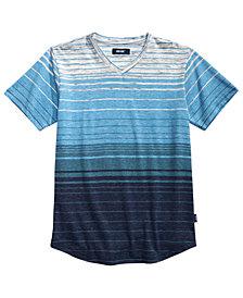 Univibe Big Boys Zane Textured Stripe V-Neck T-Shirt