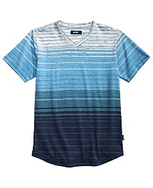 Univibe Big Boys Zane Textured Stripe V-Neck T-Shirt