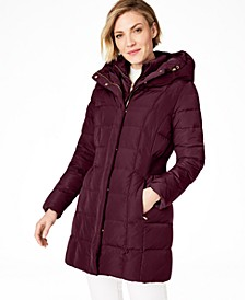Petite Hooded Down Puffer Coat