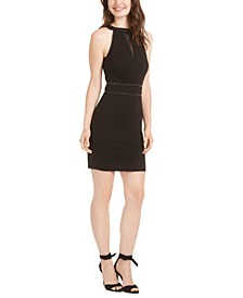 Rosa Hardware-Embellished Bodycon Dress