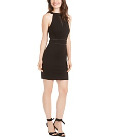 GUESS Rosa Hardware-Embellished Bodycon Dress
