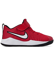 Nike Little Boys Team Hustle Quick 2 Stay-Put Closure Basketball Sneakers from Finish Line