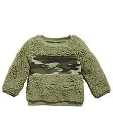 Baby Boys Fuzzy Camo Sweatshirt, Created for Macy's