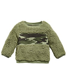First Impressions Baby Boys Fuzzy Camo Sweatshirt, Created for Macy's