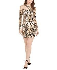 Shasti Cutout Animal Print Dress