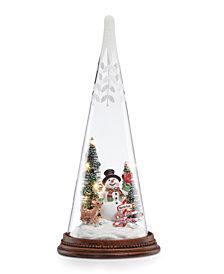 Lenox Glass Lit Snowman Friends Figurine