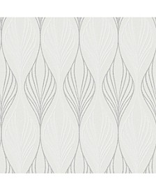 Graham Brown Optimum White and Duck Egg Wallpaper