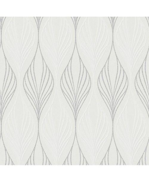 Graham Brown Optimum White And Duck Egg Wallpaper