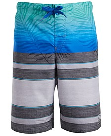 Big Boys Faded Palm Swim Shorts