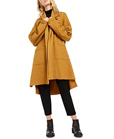 Shawl-Collar Wool Coat, Regular & Petite