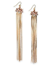 I.N.C. Gold-Tone Crystal & Multi-Chain Tassel Drop Earring, Created For Macy's