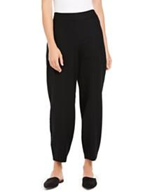 Eileen Fisher Pull-On Wool Pants, Regular & Petite