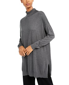 Eileen Fisher Turtleneck Tunic Sweater, Regular & Petite
