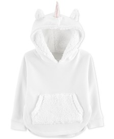 Carter's Baby Girls Fur-Trim Fleece Unicorn Hoodie