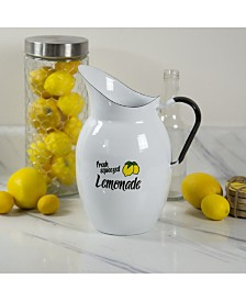VIP Home International Metal Enamelware Lemonade Pitcher