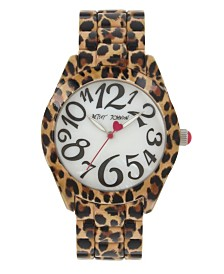 Betsey Johnson Leopard Printed Case & Bracelet Watch 40mm