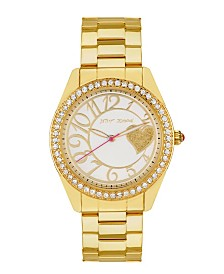 Betsey Johnson Gold Heart Watch 40mm